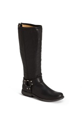 Frye 'Phillip Harness' Tall Washed Leather Riding Boot Wide Calf Black Extended
