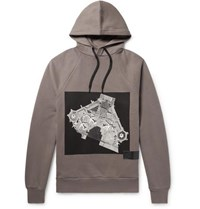 Public School Cimarron Printed Fleece Back Cotton Jersey Hoodie Gray