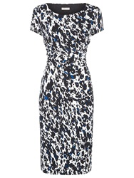 Planet Animal Print Jersey Dress White Multi