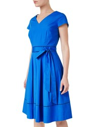 Precis Petite Bryony Wrap Dress Mid Blue
