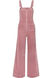 Alice Mccall Quincy Stretch Cotton Corduroy Overalls Baby Pink