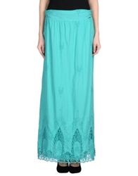 Ajay Long Skirts Turquoise