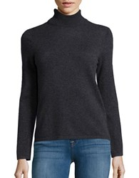 Lord And Taylor Cashmere Knit Turtleneck Charcoal Heather