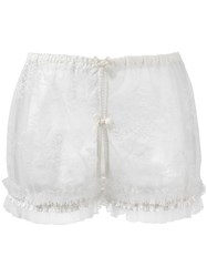 Folies By Renaud 'Ouvert' French Knickers White