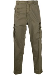 Diesel Overdyed Cargo Trousers Green