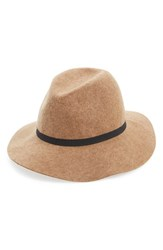 Women's Hinge Wool Felt Panama Hat Brown Heather Camel