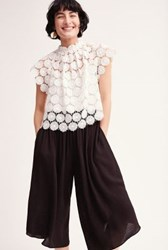 Anthropologie Daisy Lace Shell White