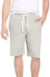 Tailor Vintage Stretch Cotton Terry Shorts Grey Heather