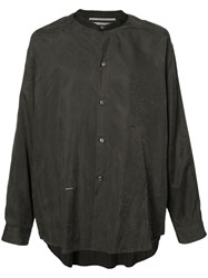 Robert Geller Plain Shirt Grey