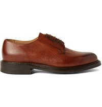 Cheaney Deal Burnished Pebble Grain Leather Derby Shoes Brown