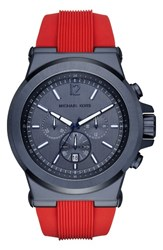 Michael Michael Kors Men's 'Dylan' Chronograph Silicone Strap Watch 48Mm