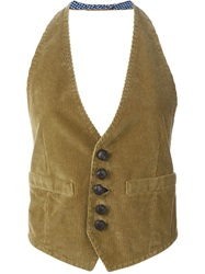 Dsquared2 Corduroy Waistcoat Nude And Neutrals