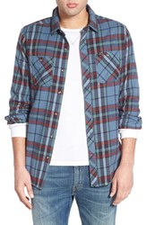Men's Volcom 'Party Train' Slim Fit Plaid Flannel Woven Shirt