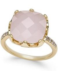 Charter Club Pave And Pink Stone Ring Only At Macy's Gold