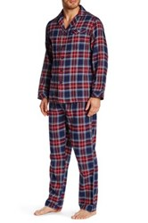 Majestic Flannel Pajama 2 Piece Set Red