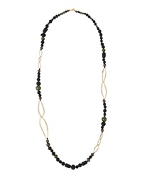 Alexis Bittar Long Bead And Link Chain Necklace