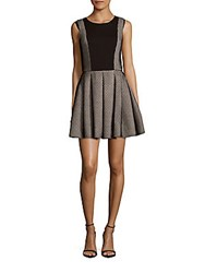 Prose And Poetry Ponte Honeycomb Pleated Dress Black Combo