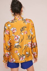 Vineet Bahl Catriona Silk Buttondown Yellow Motif