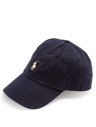 Polo Ralph Lauren Logo Embroidered Cotton Cap Blue