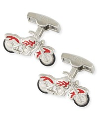 Bugatchi Motorcycle Cuff Links Silver