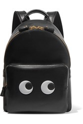Anya Hindmarch Eyes Mini Leather Backpack Black