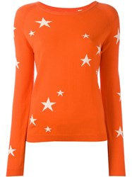 Chinti And Parker Cashmere Star Jumper Yellow Orange