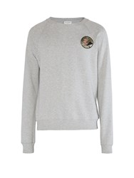 Saint Laurent Never Say Never Embellished Sweater Grey