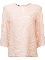 Walter Voulaz Sheer Detailing T Shirt Pink And Purple