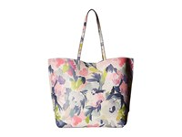 French Connection James Tote Watercolor Floral Tote Handbags Multi