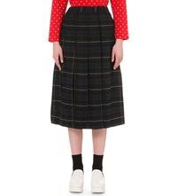 Chocoolate Checked Cotton Skirt Green Tartan