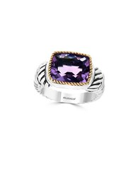 Effy Amethyst 18K Yellow Gold And Sterling Silver Ring No Color