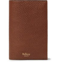 Mulberry Full Grain Leather Passport Cover Brown