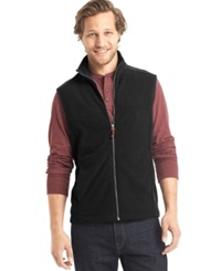G.H. Bass And Co. Full Zip Mock Neck Arctic Fleece Vest Forged Iron Heather