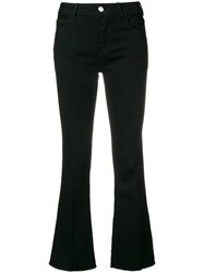 Haikure Flared Cropped Jeans Black