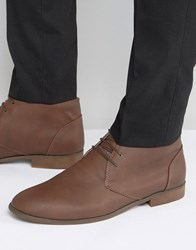 New Look Chukka Boots In Dark Brown Dark Brown