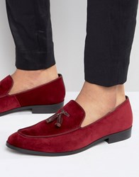 Dune Slipper Loafers In Velvet Red
