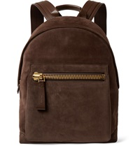 Tom Ford Leather And Suede Rucksack Brown