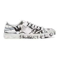 Vetements White Georgian Graffiti Sneakers
