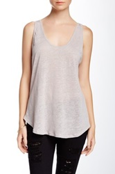 Three Dots Baseball Tank Gray