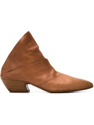 Marsa Ll Almond Toe Mules Brown