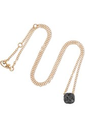 Pomellato Nudo 18 Karat Rose Gold Diamond Necklace One Size