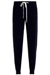 Chinti And Parker Wool Cashmere Blend Track Pants Navy