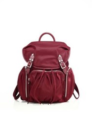 M Z Wallace Marlena Bedford Nylon Backpack Red
