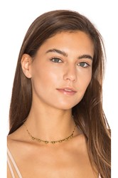 Luv Aj The Baroque Bar Necklace Metallic Gold