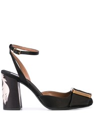 Tabitha Simmons Serena Large Buckle Pumps Black