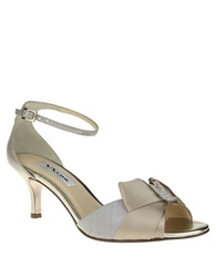 Nina Cyprian Crystal High Heel Sandals Taupe