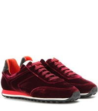 Rag And Bone Dylan Runner Velvet Sneakers Red