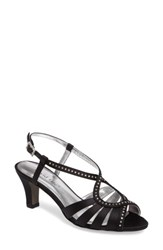 David Tate Women's Whisper Slingback Sandal Black Satin