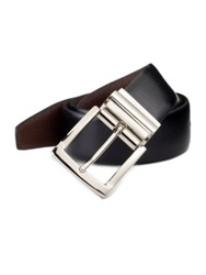 Saks Fifth Avenue Reversible Leather Belt Black Brown