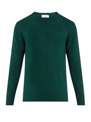 Ami Alexandre Mattiussi Crew Neck Wool Blend Sweater Dark Green